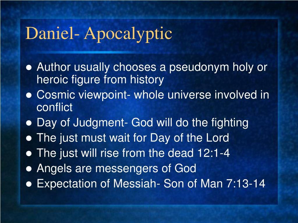 Daniel- Apocalyptic