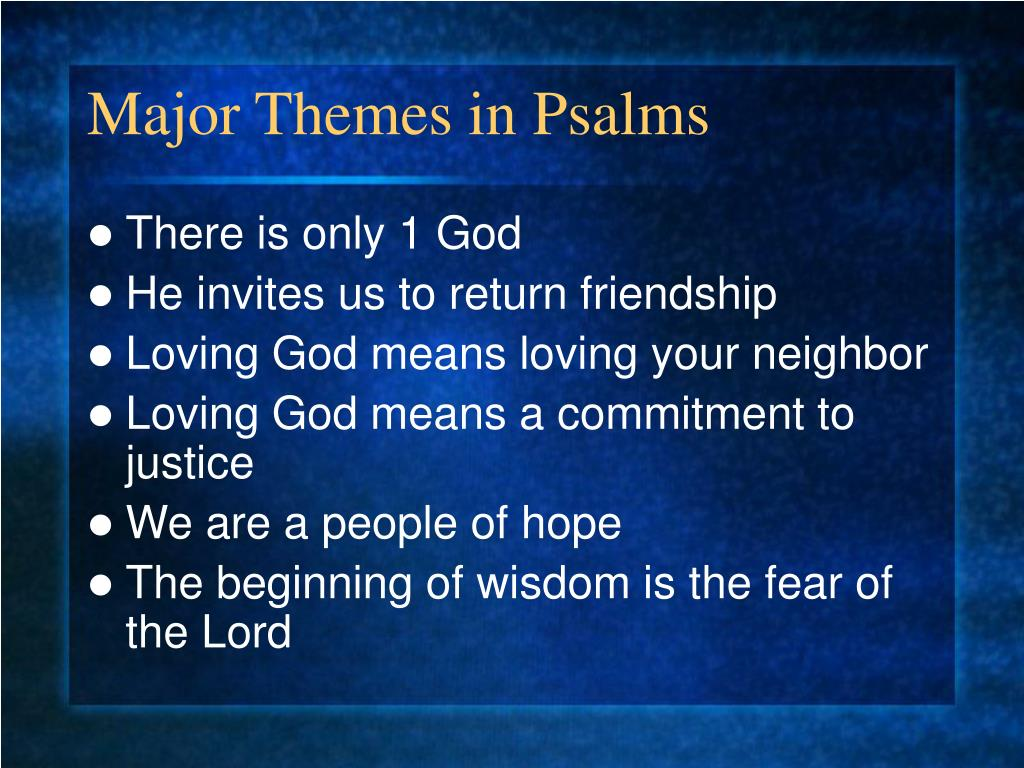 Major Themes in Psalms