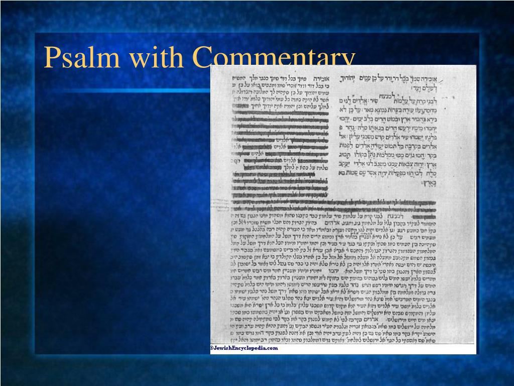 Psalm with Commentary