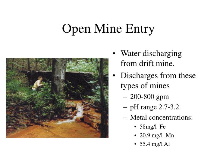 Open Mine Entry