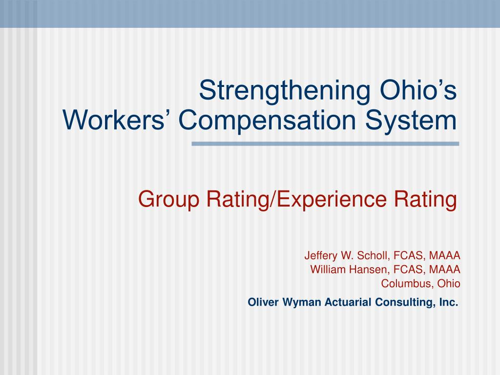 strengthening ohio s workers compensation system l.