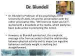 dr blundell