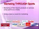marketing through sports