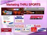 marketing thru sports