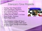 standard one projects