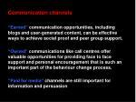 communication channels24