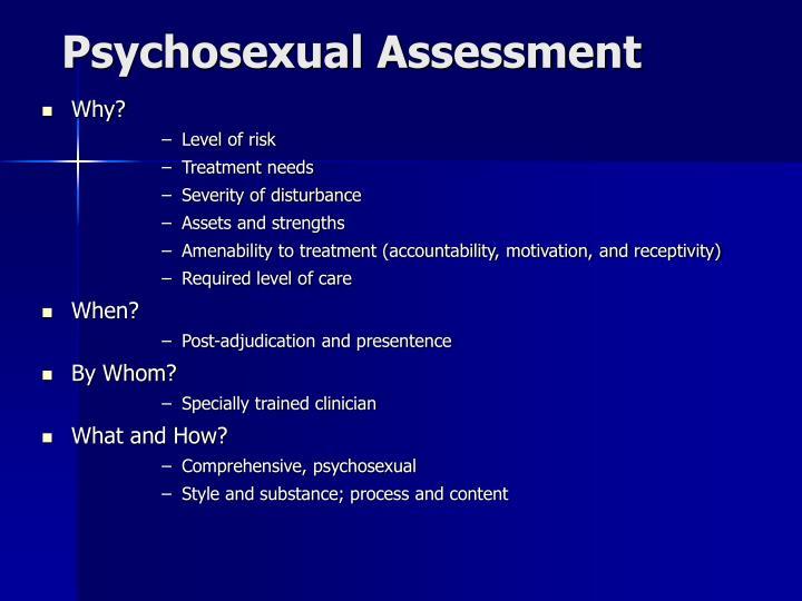 Psychosexual assessment