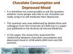 chocolate c onsumption and depressed mood