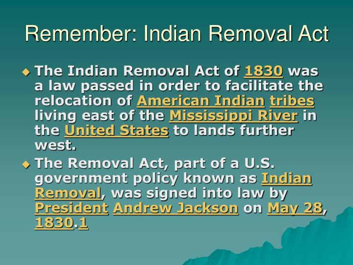 the removal of all indian people to the west of the mississippi river The five civilized tribes and the indian removal community of people that land west of the mississippi river that was set aside by the.
