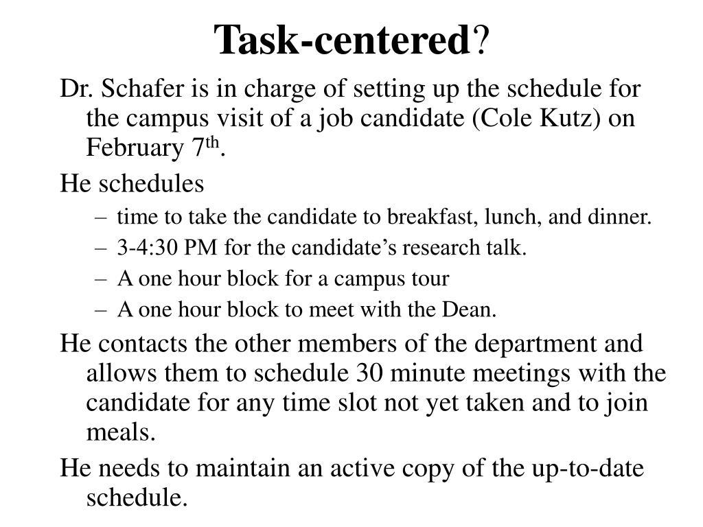 Task-centered
