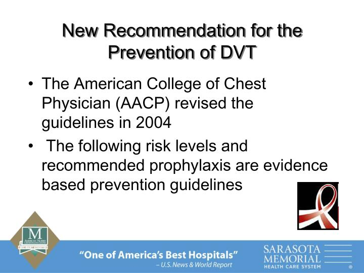 New Recommendation for the Prevention of DVT