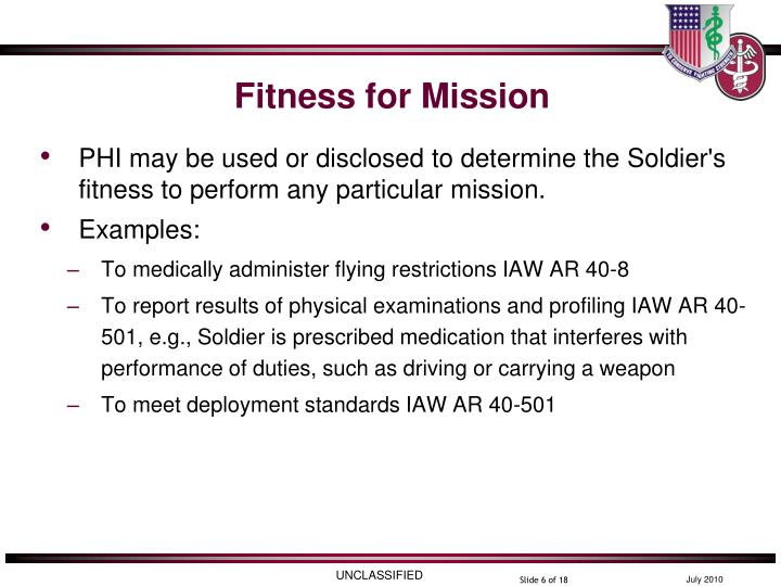 Fitness for Mission