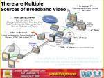 there are multiple sources of broadband video