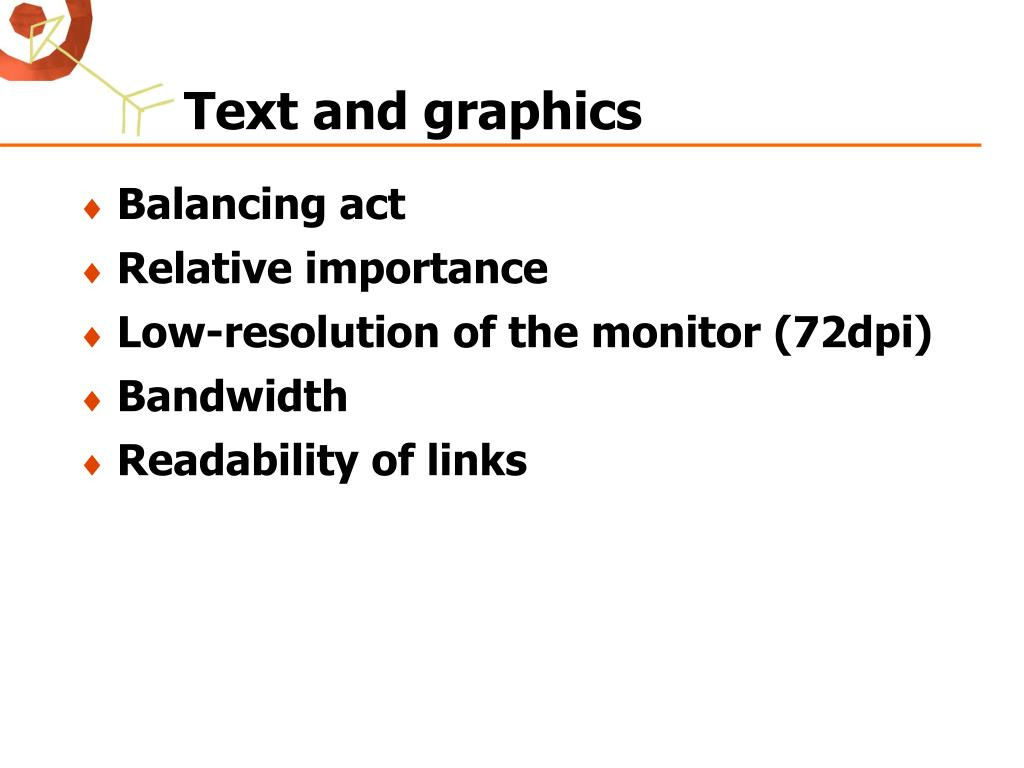 Text and graphics