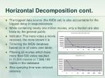 horizontal decomposition cont
