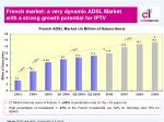 french market a very dynamic adsl market with a strong growth potential for iptv