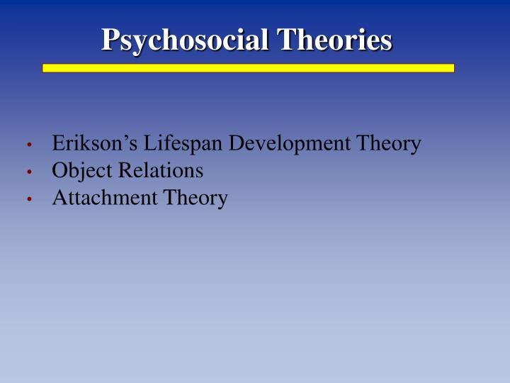 eriksons theory of lifespan development Theories of aging  home study guides erik erikson, who took a special as older adults approach the end of their life span.