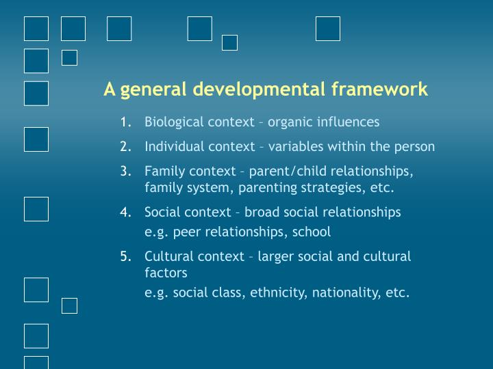 A general developmental framework