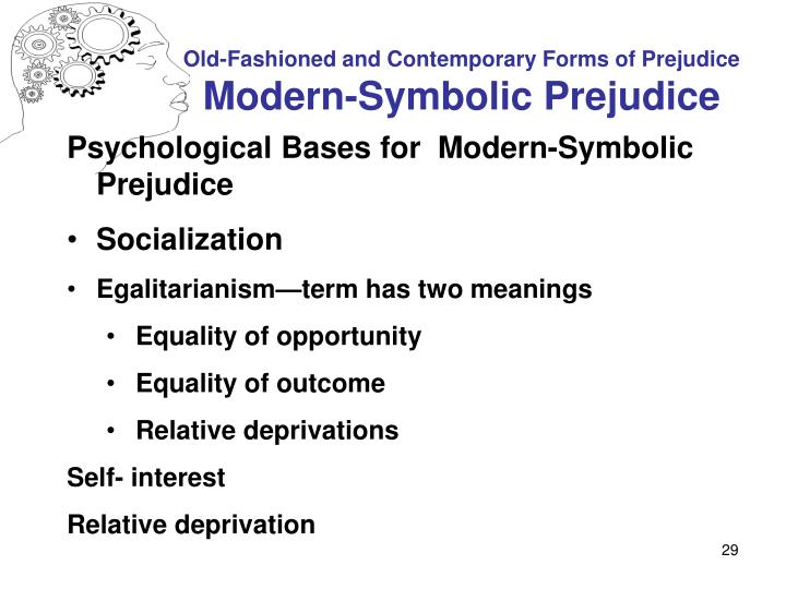 different forms of prejudice Prejudice involves having negative attitudes and stereotyped beliefs about members of a group learn why prejudice forms and how to overcome it.