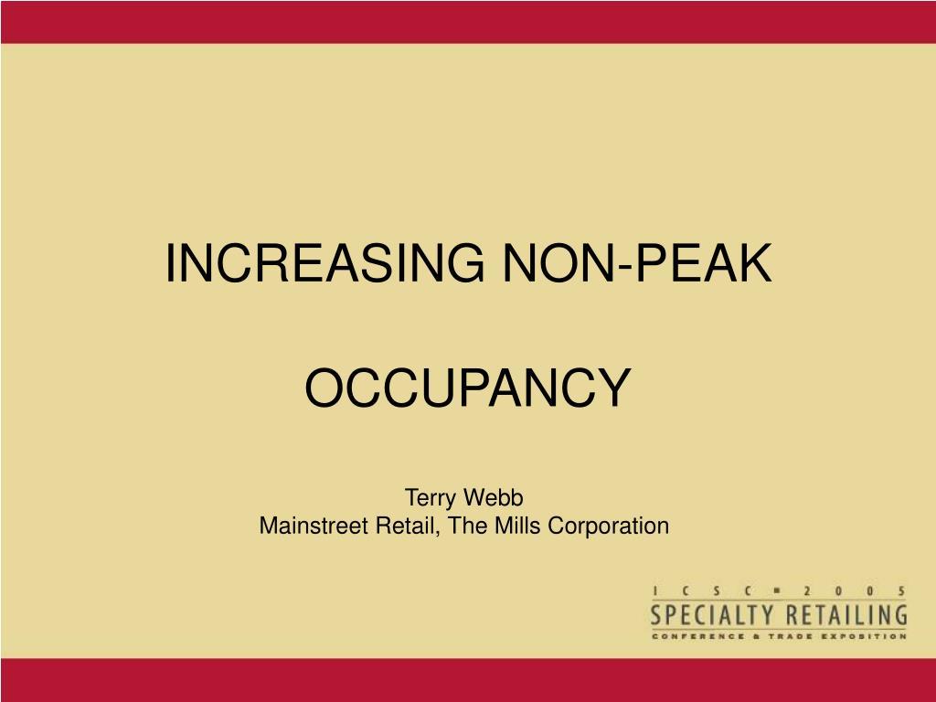 increasing non peak occupancy l.