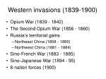 western invasions 1839 1900