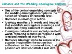 romance and the wedding ideological complex