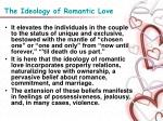 the ideology of romantic love16
