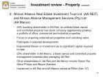 investment review property continued