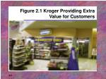 figure 2 1 kroger providing extra value for customers