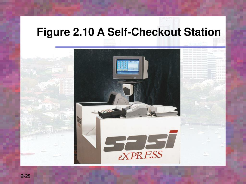 Figure 2.10 A Self-Checkout Station