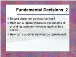 fundamental decisions 2