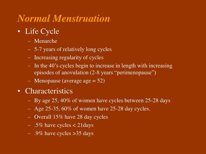 Normal Menstruation