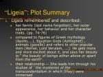 ligeia plot summary