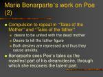 marie bonarparte s work on poe 2
