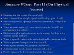 ancrene wisse part ii on physical senses