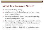 what is a romance novel