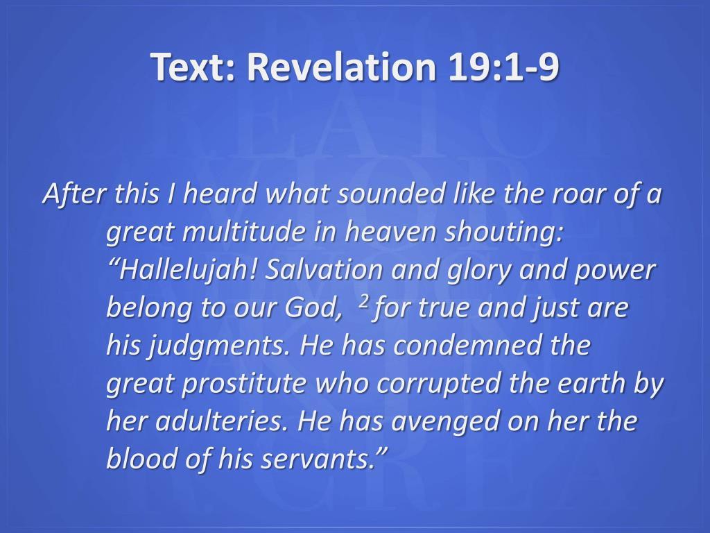 Text: Revelation 19:1-9