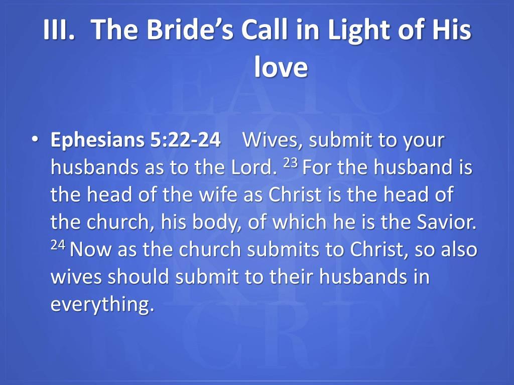 Ephesians 5:22-24
