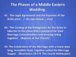 the phases of a middle eastern wedding