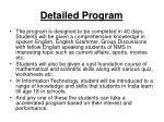 detailed program