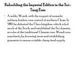 rebuilding the imperial edifice in the sui tang eras