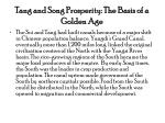 tang and song prosperity the basis of a golden age
