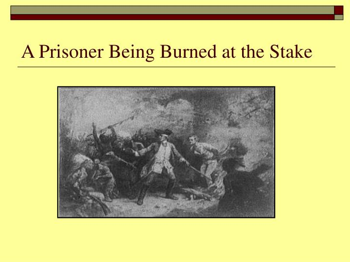 A Prisoner Being Burned at the Stake