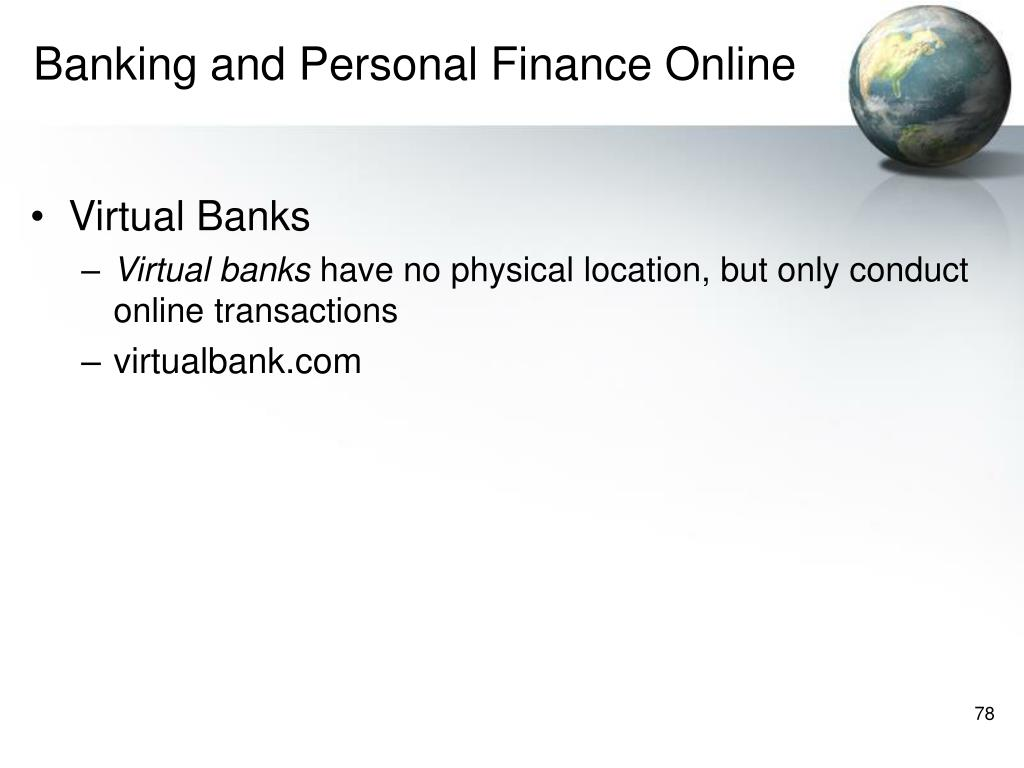 Banking and Personal Finance Online