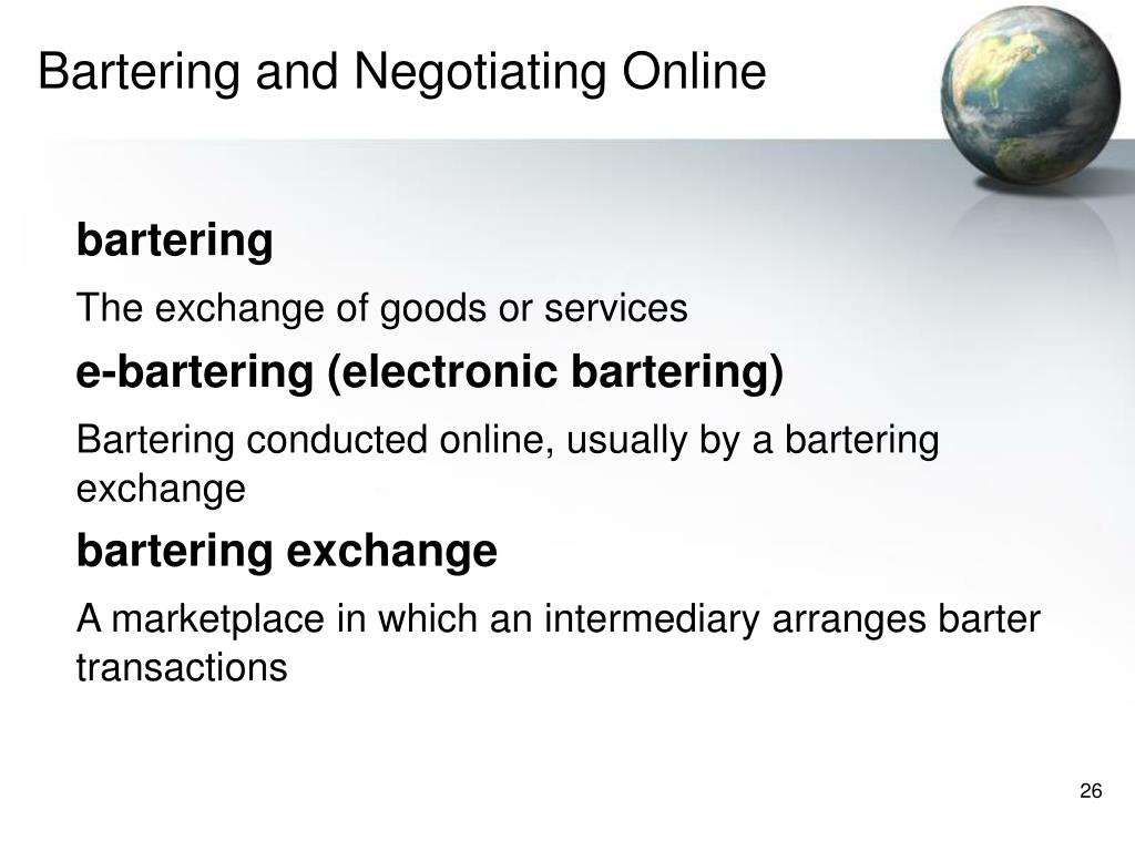 Bartering and Negotiating Online
