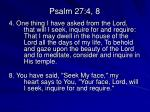 psalm 27 4 8