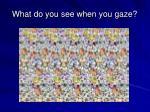 what do you see when you gaze
