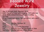 beaded wire jewelry