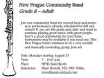 new prague community band grade 8 adult