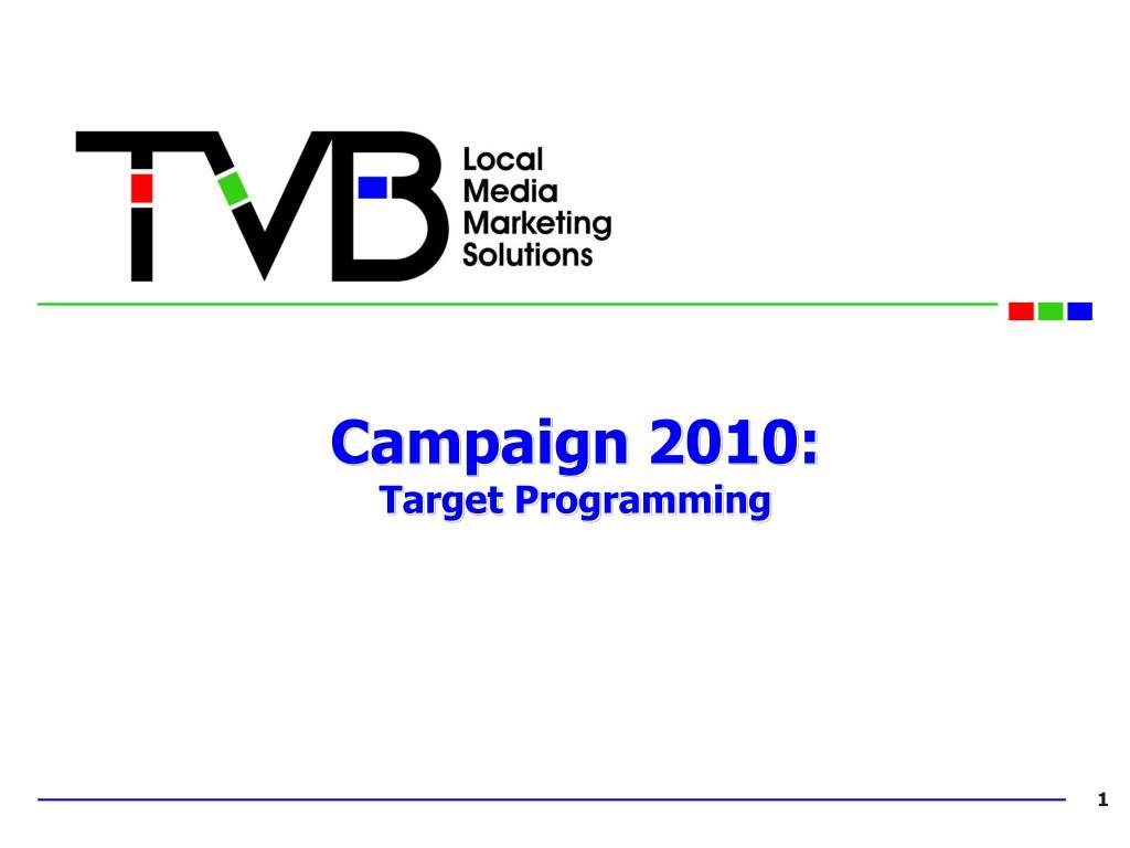 Campaign 2010: